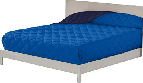 Lucena Cantos - Colcha Verano, Fibra 60 gr, Bicolor (Azul/Marino, Cama 90, 180 x 270)