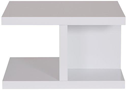 Temahome Crest Couchtisch, Holz, Mattweiß, 75 x 75 x 45 cm