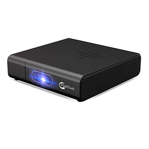 Mini Projector Portable 3D DLP-Link Smart Video for iOS/Android Phone Wireless Screen Sharing Support 4K 400 Ansi Lumens Android OS Powerful Speakers Dual WiFi Bluetooth HDMI Keystone Correction