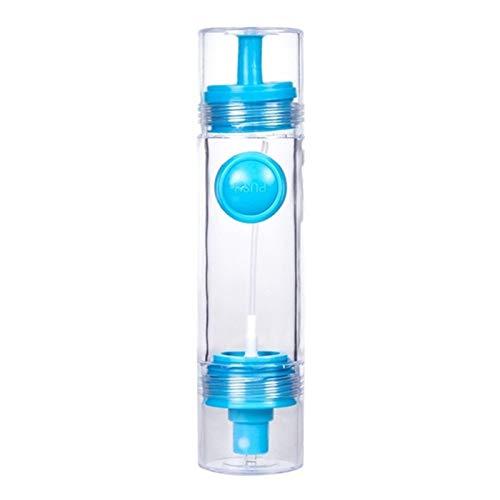 URNOFHW 2 en 1 Cocina Herramientas Ular de Botella de Aceite de Oliva Aceite pulverizador Pot Vinagrera vinagre dispensador de pulverización de Bomba-Azul
