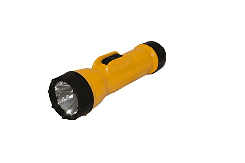 BRIGHT STAR 2D Cell LED Industrial Flash Light – Long Battery Life, Waterproof, Shock Resistant. Genuine Emergency Torch Light, Black (11500)