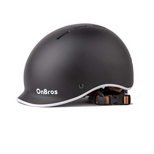 OnBros - Casco de bicicleta para adultos, ajustable, para hombres y mujeres,...