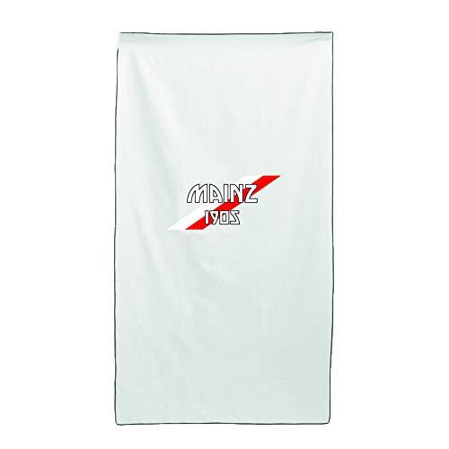 Tipolitografia Ghisleri Handtuch, Strandtuch, Handtuch weiß, Flagge Mainz 70 x 140 cm