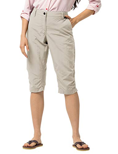 Jack Wolfskin Kalahari 3/4 Pantalon, Light Sand, 34 Pour Femmes