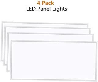 LED Panel Light, 4 Pack of 60W 5000K Daylight White Ceiling Flat Panel Light, 100-277VAC (4 Pack of 2x4FT)