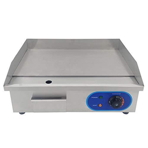 T-CAT Plancha Eléctrica Pro Plancha de Hierro Fundido,Temperatura de 50 a 300 °C, 3000W 16.8kg 220-240V antisalpicadura, Acero Inoxidable