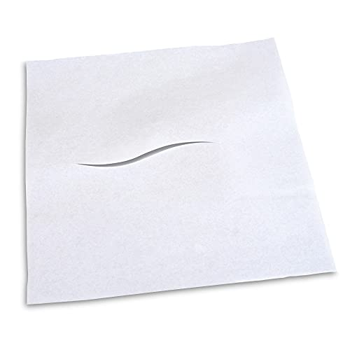 BodyMed Headrest Paper Tissue Sheets – Tissue Paper Squares for Chiropractic Exam Table or Massage Table – White – 12-Inch x 12-Inch – with Nose Slit (1,000 per Box)