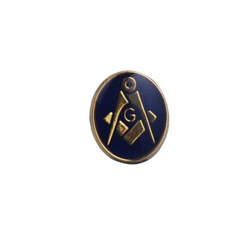 Dur plaqué or 12x10mm ovale polymérisation à froid émail maçonnique par 'G' épingle à cravate
