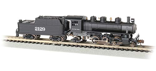 Prairie 2-6-2 Steam Locomotive & Tender - ATSF #2129 - N Scale
