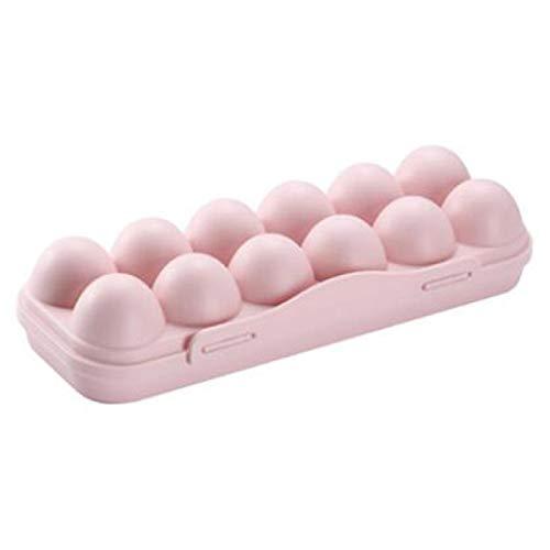 Bandeja para huevos con soporte para nevera, contenedor de almacenamiento para camping, picnic, barbacoa, a prueba de golpes, organizador de huevos