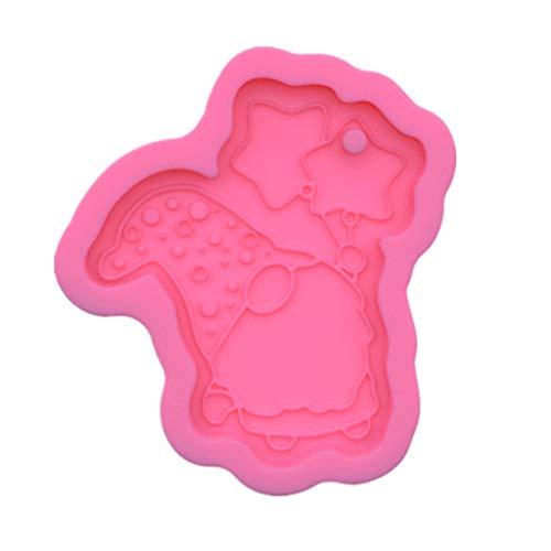 WuLi77 Molde de resina de silicona Gnome Keychain Mould, para moldear joyas resina epoxi, herramientas DIY molde jabón