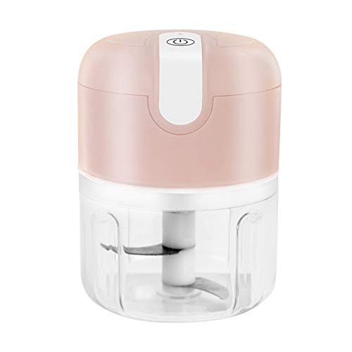 Amoladora de carne Amoladora de carne eléctrica inalámbrica Hogar Mini ajo Ginger Chili Master USB Cachonda Chopper Carne Trituradora Trituradora Hogar (Color : Pink)