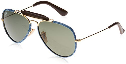 Ray-Ban Aviator Craft Gafas, BLUE DENIM, ORO, 58 Unisex Adulto