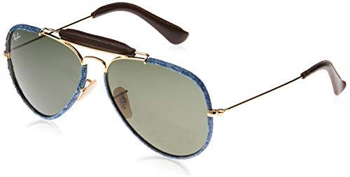 Ray-Ban Aviator Craft Gafas, Blue Denim, Oro, 58 Unisex Adulto