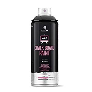 Montana Colors Pintura Pizarra, Spray 400ml, Negro
