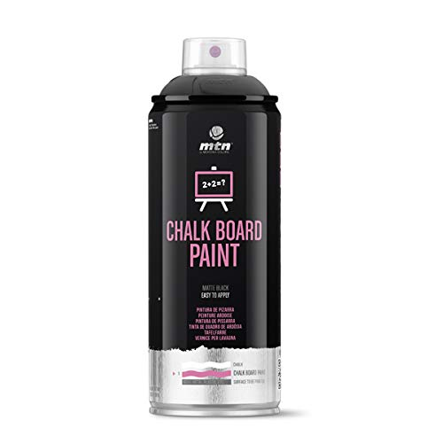Montana Colors Pintura Pizarra, Spray 400ml, Negro