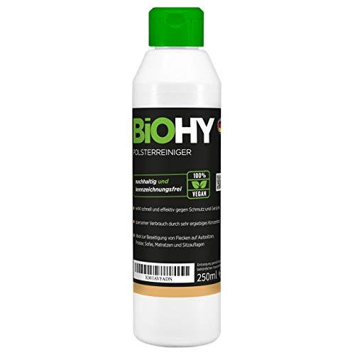 BiOHY Spezial Polsterreiniger (250ml Flasche) | Ideal für Autositze, Sofas, Matratzen etc. | Ebenfalls für Waschsauger geeignet