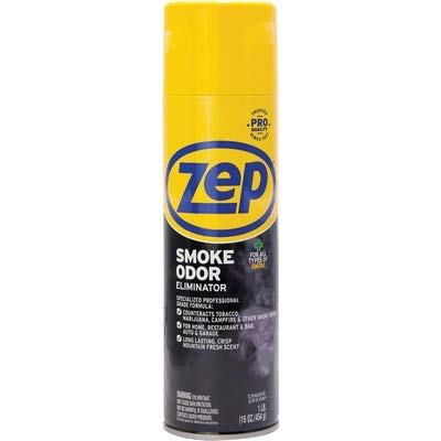 Zep Smoke Odor Eliminator Aerosol ZUSOE16 (Pack of 2) - Eliminate Cannabis (Marijuana) and Tobacco...