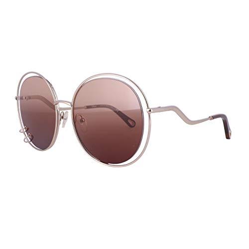 Chloe CE153S Sonnenbrille aus Metall, Gold/Gradient Brown Unisex für Erwachsene, mehrfarbig, Standard