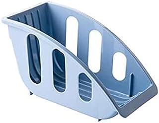 رفوف وحوامل - 1 قطعة متعددة الوظائف طبق صرف رف رف تصريف أدوات المطبخ تجفيف تخزين صينية وعاء وعاء ملعقة رف تخزين (أزرق فاتح)