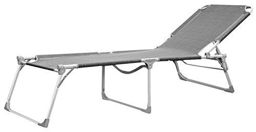 Haberkorn-Garten Liege Sonnenliege Aluminium ELBA GRADNDE extra lang und breit 223 x 72 cm … (1)