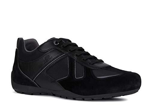 Geox RAVEX U923FD Herren Low-Top Sneaker,Männer Halbschuh,Sportschuh,Schnürschuh,atmungsaktiv,SCHWARZ,43