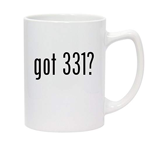 got 331? - 14oz White Ceramic Statesman Coffee Mug