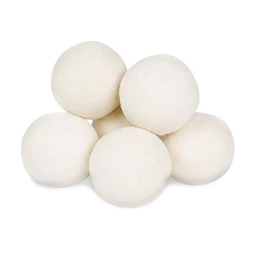 Nuevas bolas de secadora de lana caliente por paquete de 6, suavizante de tela natural reutilizable
