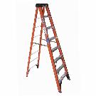 Shop Werner 8-ft Fiberglass Type 1A - 300 lbs. Step Ladder at Lowes.com