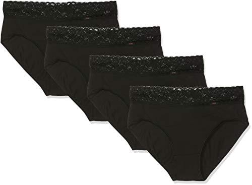 Dim Culotte Maxi Coton Plus Feminine x 4 - Femme, Noir (Noir/ Noir/ Noir/ Noir 0hz), 40 (Taille fabricant:40/42)