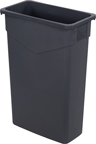 Carlisle 34202323 TrimLine Rectangle Waste Container Trash Can Only, 23 Gallon, Gray