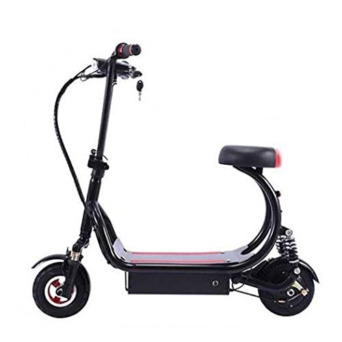 GWXSST Patinete plegable de acero de alto carbono Triple absorción de choque Luces delanteras y traseras Bajo consumo de energía y brillo fuerte Pequeño scooter de dos ruedas con un rango de 25 km