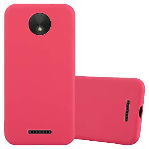 Cadorabo Funda para Motorola Moto C en Candy Rojo - Cubierta Proteccíon de Silicona TPU Delgada e Flexible con Antichoque - Gel Case Cover Carcasa Ligera