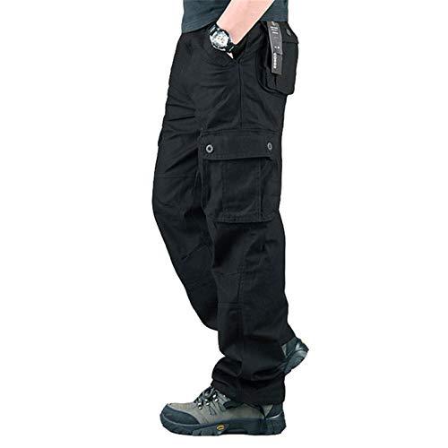 Hhckhxww Monos De OtoñO E Invierno Pantalones Casuales Al Aire Libre para Hombres Pantalones Deportivos De Pierna Recta De Talla Grande Seis Bolsillos Pantalones De Trabajo Sueltos