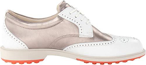 Ecco Women's Classic Golf Hybrid - Zapatos de Golf para Mujer, Color Blanco/marrón, Talla 41