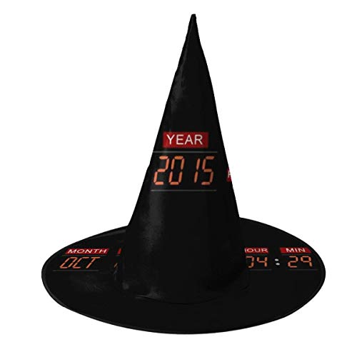 OJIPASD Delorean Time Machine Back To The Future Sombrero de Bruja Halloween Unisex Disfraz para da Festivo Halloween Navidad Carnaval Fiesta
