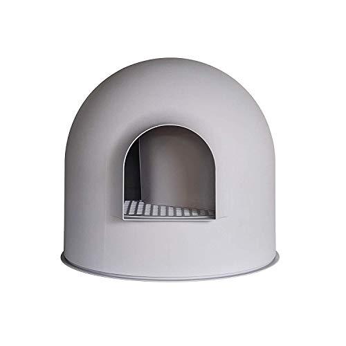 Maisons de toilette pour chats avec Grand Couvercle et Une Pelle bac à litière de Chat Pelle Maison Neige Igloo Solide et Durable Facile à Nettoyer avec Un revêtement Anti-adhésif - Design élégant et