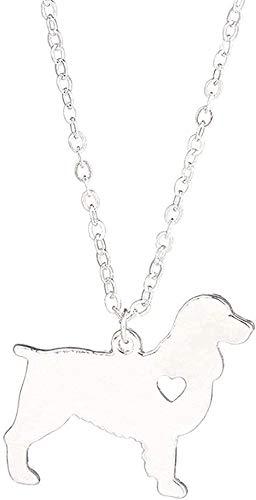 Collar Collar Joyas Oro Plata Collar De Springer Spaniel Inglés Collares De Perro Regalo...