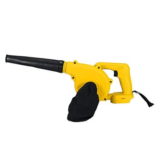 AYGANG Sin Cable eléctrico de Aire del Ventilador de Mano de vacío Limpiar soplador de Hojas Ordenador Herramienta eléctrica del colector de Polvo soplador de Hojas (Color : Yellow)