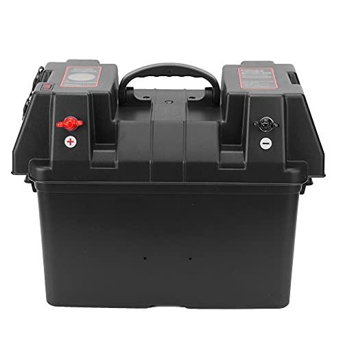 Doble Batería Caja, 325 X 200 X 185mm/128 X 79 X 73 en ordenador personal Protector Cubrir Pbjon Cáscara corriente continua 6-30v Portátil Poder Estación con Ordenador personal Protector Cubrir Pbjon