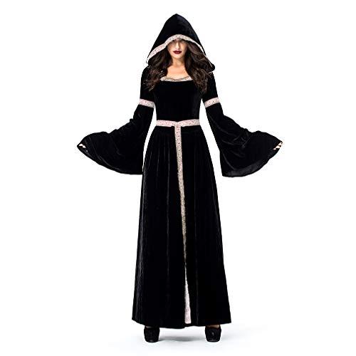YaXuan Disfraz de Bruja Disfraz Retro Adulto para Adulto Disfraces ...