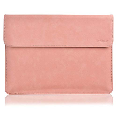 XISICIAO, Briefcase Tailor Made for Microsoft Surface Pro 7/Pro 6/Pro 2017/Pro 4/Pro X, 12.3 Inch Laptop Anti-Collision Sleeve Cover Waterproof Polyester Ultrathin Carrying Bag (Light Pink)