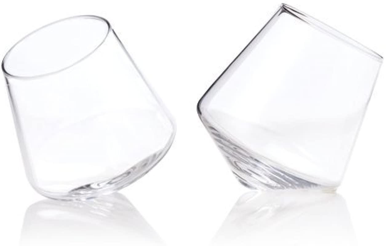 Viski 3720 Rolling Wine Glasses Clear Set Of 2