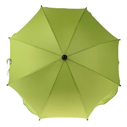 IPOTCH Wasserdicht Sonnenschirm Strandschirm winddicht Schirm mit Universal klemme, viele Farbe Auswahl - Grün, wie beschrieben
