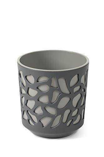 Vaso per fiori Duet Ø 195 mm   Fioriera   vasi colorati per interni ed esterni (grigio)