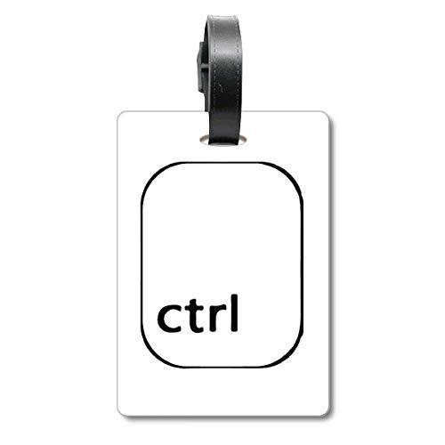 Keyboard-Symbol Ctrl Cruise Koffer Bag Tag Tourister Identification Label