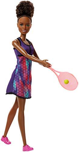 Barbie Quiero Ser tenista, muñeca con accesorios (Mattel FJB11)