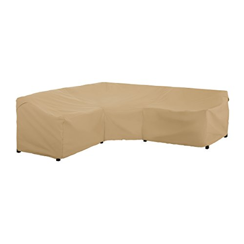 Classic Accessories Terrazzo Water-Resistant 100 Inch Patio V-Shaped Sectional Lounge Set Cover