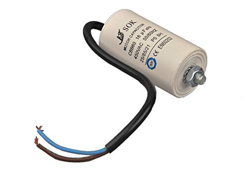 Kondensator Motorkondensator Anlaufkondensator 16 uF / 450V Mit Kabel