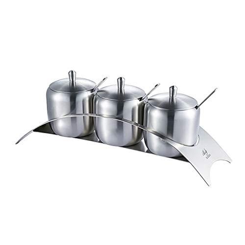 Cylficl Creativo in Acciaio Inox 304 condimento Vaso condimento Casella Ponte Base Ciotola di Zucchero Forniture da Cucina condimento Set Vaso
